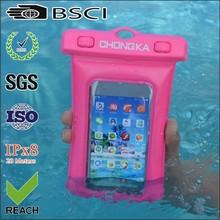 pvc waterproof mobile bag/waterproof mobile bag for phone/waterproof pvc mobile phone bag