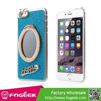 3D Pearl Rhinestone Magic Mirror PC Hard Case for iPhone 6 Plus 5.5-inch