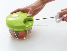High Quality Food Grade spiral vegetable slicer chopper, mini manual speedy chopper