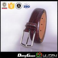 Popular personality snake grain mens brown leather belt