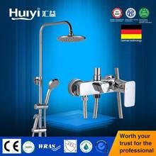 Chrome shower set brass shower mixer cheap retractable shower HY-D010