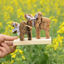 Hand Carved Wood Elephant Sculpture India Carving Art Craft Wooden Craft