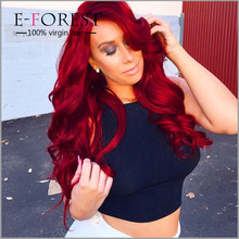 2015 Hot Style Brazilian Virgin Human Hair Ombre Loose Wave Lace Front Wig China Wig Supplier