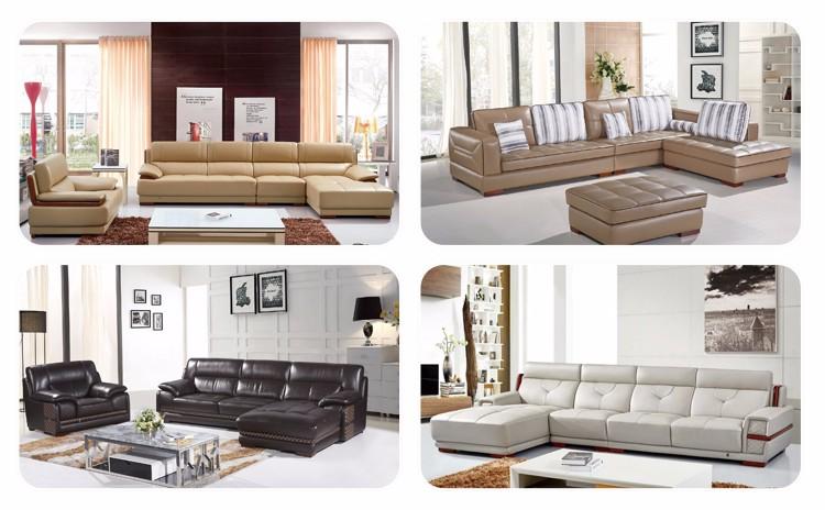 2016 bajo precio juego de muebles en forma de l sofá de cuero ...