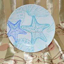2015 new christmas blue tree flat plate, christmas dinner plate,dessert plate-056