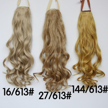 2015 Alibaba Express Long Wavy Ponytail Highlight Synthetic Ponytail Extension Pony Tail Hair to Fashion Women