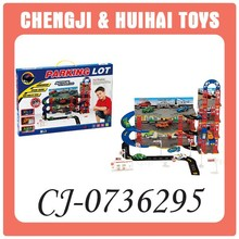 Popular plastic mini toy car garage playset model for kids
