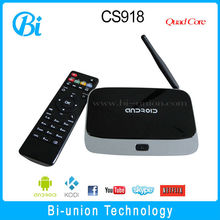 2015 factory price Quad core cs918s ii tv box apk installer google play for USA\Canada
