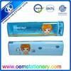2015 oem accept blue triangle transparent plastic pencil case wholesale online shopping for kids