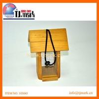 hanging wooden bird house & bird feeder wholesale