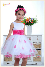 hot selling good price red and pink can be choose modern girls dresses