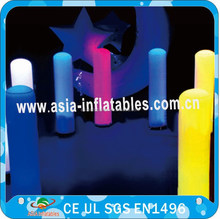 Party decoration led lighting inflatable tube, Colorful led lighting decoration, inflatable lighting tower