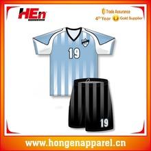 Hongen apparel Short sleeve custom team culb sublimated soccer jerseys