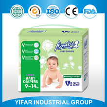 Well-known China own brand High level factory directly offer pp tape PE film backsheet soft sleepy baby diaper