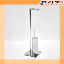 Outstanding Right Angle Toilet Tissue Stand and Brush Combo