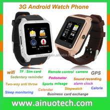 3G,Bluetooth,Email,FM Radio,GPS Navigation,MP3 Playback,Touch Screen,WiFi Feature and Bar Design android smart watch