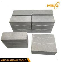 Diamond Teeth Welded On New Steel Saw Blank Stone Saw Teeth For Granite Cutting