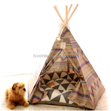 Korea top sale inidan Pet teepee tent for dog or cat