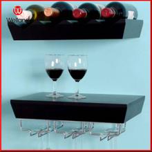 Teak wood wine rack