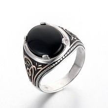 Large Sterling Silver Ring Black Onyx Jewelry Designs Alibaba Wholesale SRG287W