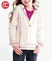 de marfil chaqueta de forro polar para las niñas pq317
