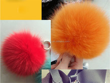 cock ball ring/blue fur pom poms/beanie hat fur pompom
