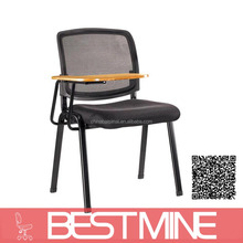 S15B Mesh Conference Chair With Tables Attached