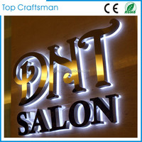 Stainless steel led backlit signs Outdoors Illuminated Channel Letters