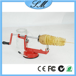 small potato chips machine/ spiral Potato cutting machine / potato cutter