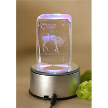 special price block beautiful glass 3d crystal led light base