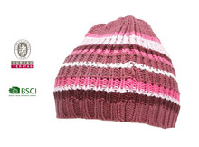 BSCI 100% acrylic knitted winter hat