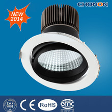 90.83lm/W Ultra bright recessed adjustable led cob downlight