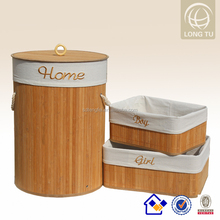 Household articles 40*28*50cm bamboo handicraft in bamboo laundry basket hamper