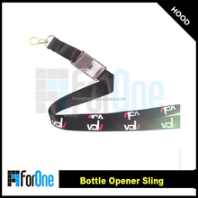 high quality detachable bottle opener lanyard with silkscreen printing