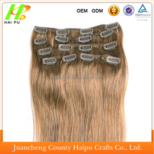 Factory cheap price hot sell indian apple varieties of watermelon curly Clip In brighton Hair Extension for variety color of n