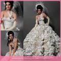 dl698 nueva versión de un hombro color marfil vestido de bola kleinfeld vestidos de novia