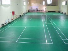 Shock-absorption Rubber Badminton Court with PU Coating