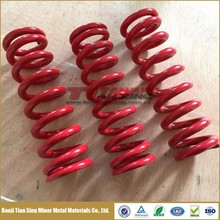 Grade 5 or Beta C Titanium Rear Shock Springs for MTB with Plastic coated colors