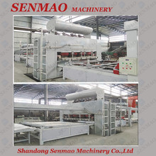 Chinese Senmao mdf laminating short cycle melamine press machine/Multi layers hot press machine for plywood