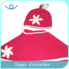 Factory direct supply cute knitted crochet sun baby christmas hat