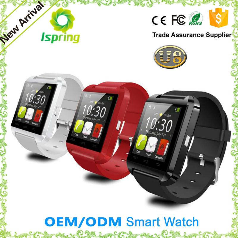 2015 stylish bluetooth watch, Mtk u8 android smartwatch
