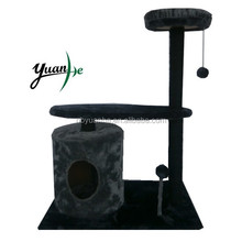Simple Dark Grey Cat Scratching Tree With Scratching Post/Cat Scratching Toy