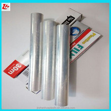 High quality hot selling food grade anti-fog jumbo roll with slide cutter fresh PE Cling Film in color box for supermarket/hotel