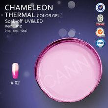 #812J 2015 new nail art cosmetic raw materials of thermo uv gel nail polish