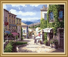 Factory direct sell hand-painted landscape painting, canvas painting