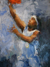Shen Zhen Dafen Painting Village Manufacturer The Number 3 Answer Denver Team Allen Iverson Oil Painting On Canvas For Wall Art