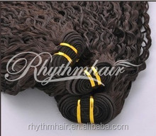 Rhythmhair italian curl brazilian hair extension best design grade 6A100% human hair extension