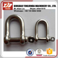 D Shape Stainless Steel Shackle