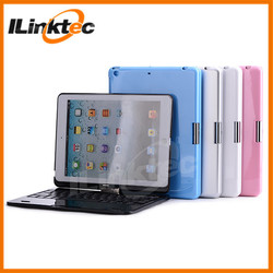 Netbook style keyboard case for ipad min, 360 rotation bluetooth keyboard case for ipad mini