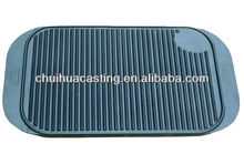 Cast Iron Griddle Preseasoned Ribbed